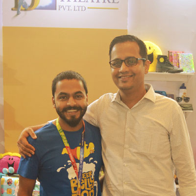 team-member-with-jibi-at-india-licensing-expo